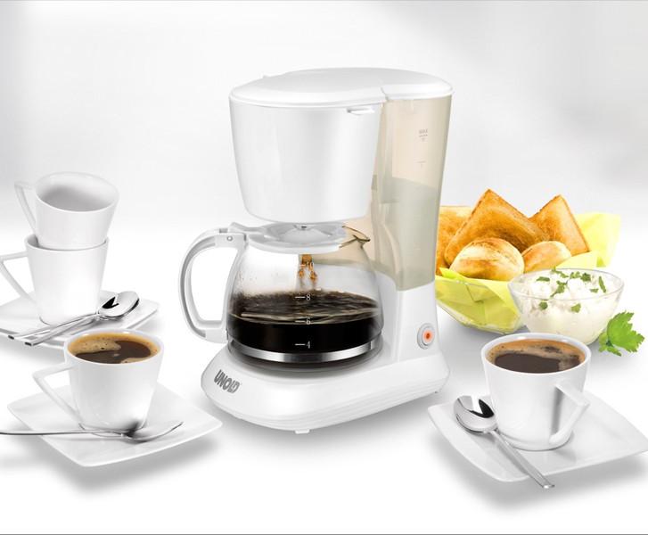Unold Flavour Отдельностоящий Автоматическая Капельная кофеварка 1.2л 10чашек Белый