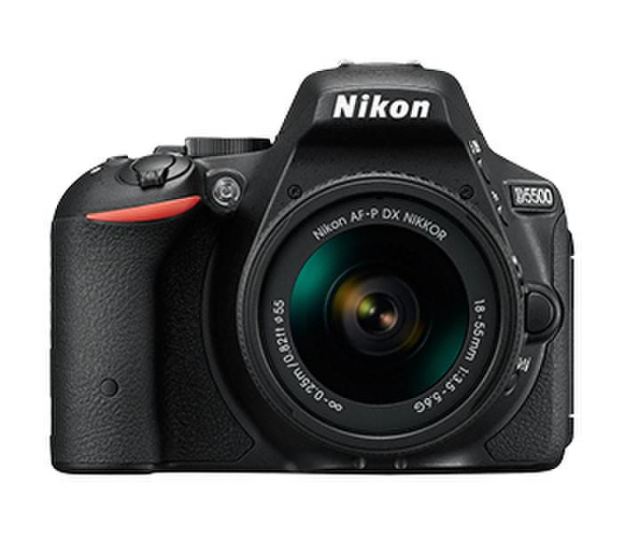 Nikon D5500 + AF-P 18-55mm VR + 55-300mm VR 24.2МП CMOS 6000 x 4000пикселей Черный