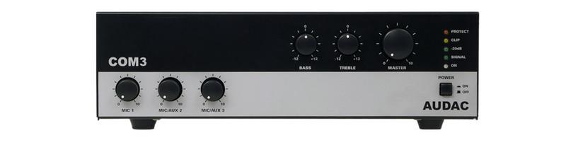 AUDAC COM3 1.0 Проводная Черный, Серый усилитель звуковой частоты