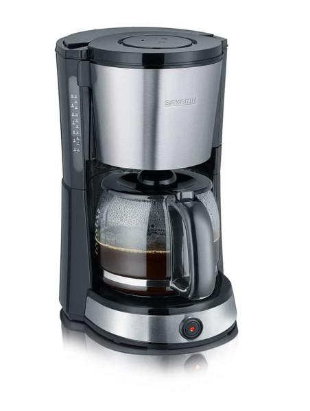 Severin KA 9476 Отдельностоящий Автоматическая Капельная кофеварка 10чашек Черный, Нержавеющая сталь кофеварка