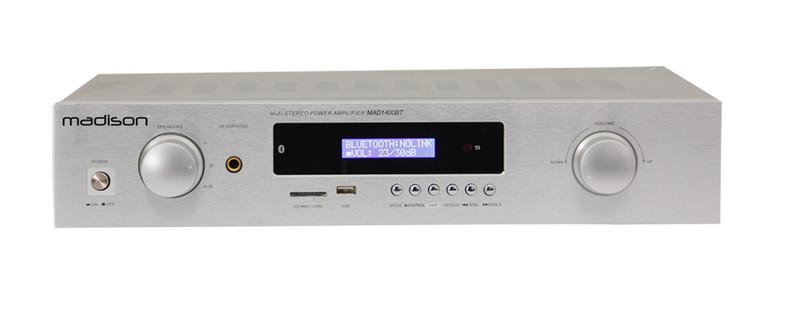 MADISON MAD1400BT-WH Дома Проводной и беспроводной Белый усилитель звуковой частоты