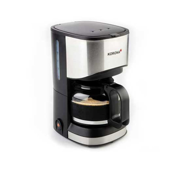 Korona 12015 Отдельностоящий Автоматическая Капсульная кофеварка 0.7л 5чашек Черный, Нержавеющая сталь кофеварка