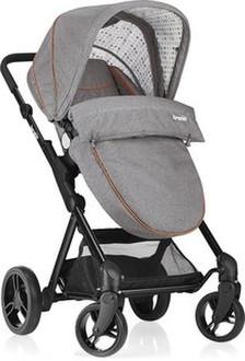 Brevi 8011250766778 Traditional stroller 1место(а) Серый детская коляска