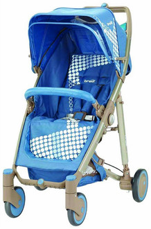 Brevi Crystal Paseggino 260 Traditional stroller 1место(а) Черный