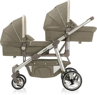 Brevi Navicella Ovo Twin 398 Tandem stroller 2место(а) Коричневый