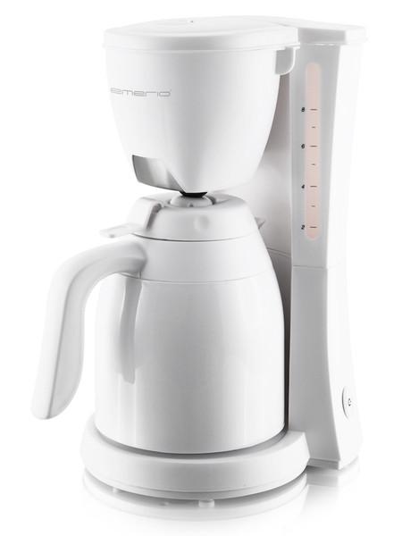 Emerio CME-108604.1 Отдельностоящий Капельная кофеварка 1л Белый кофеварка