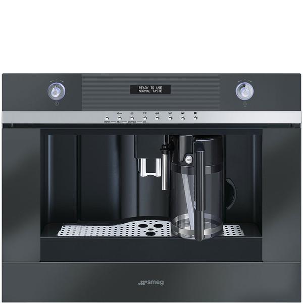 Smeg CMSC451NE Встроенный 1.8л Черный, Нержавеющая сталь кофеварка