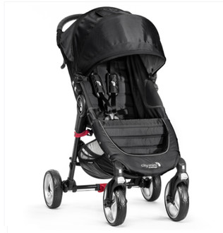 Baby Jogger City Mini 4 Traditional stroller 1место(а) Черный