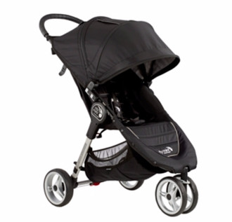 Baby Jogger City mini 3 Jogging stroller 1место(а) Черный, Серый