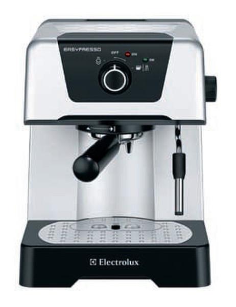 Electrolux EEA110 Отдельностоящий Semi-auto Espresso machine 1.4л 2чашек Черный, Cеребряный