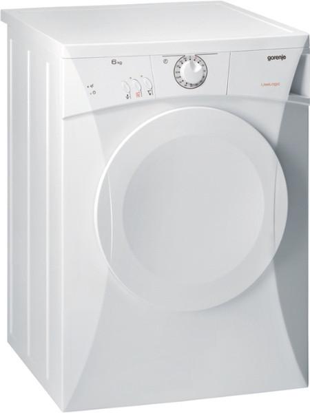 Gorenje D61112 Отдельностоящий Фронтальная загрузка 6кг C Белый сушилка для белья