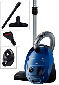 Siemens VSZ31455 Цилиндрический пылесос 4л 1400Вт Черный, Синий, Серый пылесос