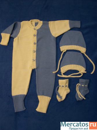 Вязанные костюмчики до 1 года