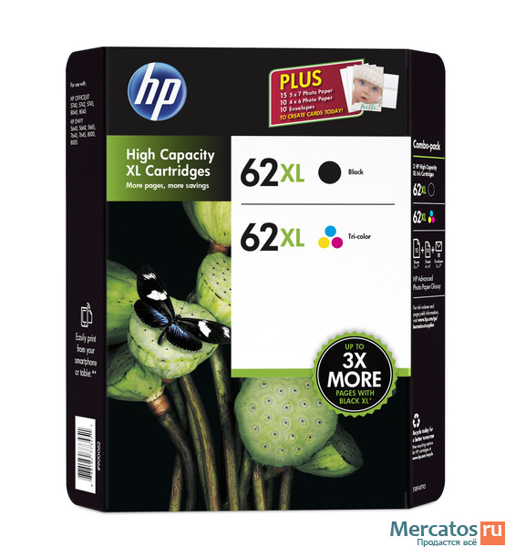 hp 62xl high yield black tri color original ink cartridge content value pack. Black Bedroom Furniture Sets. Home Design Ideas