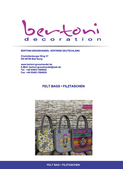 Wholesale handbags made of felt with printed