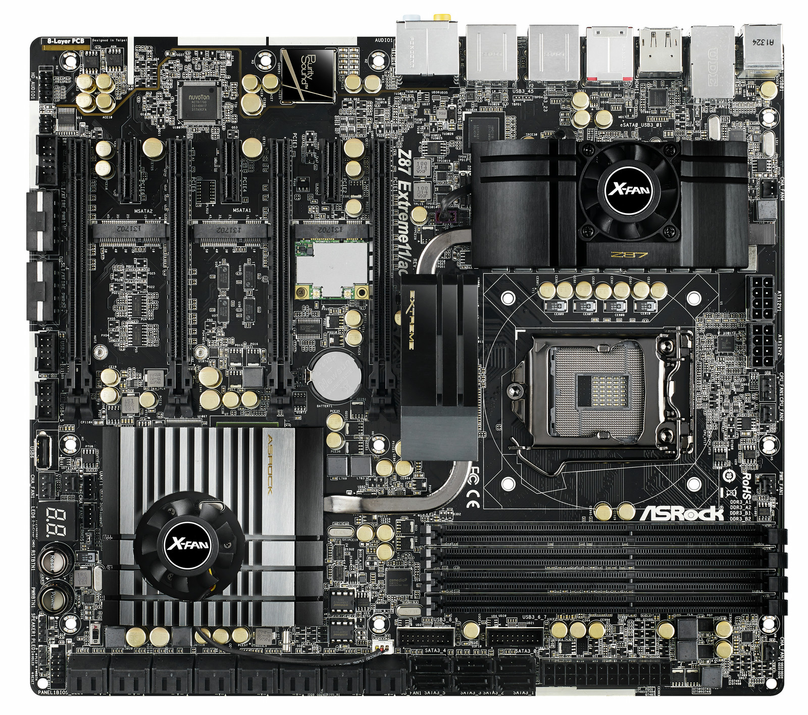 0f1d9d610d Asrock Z87 Extreme11 ac Intel Z87 Socket H3 (LGA 1150) Extended ATX  motherboard