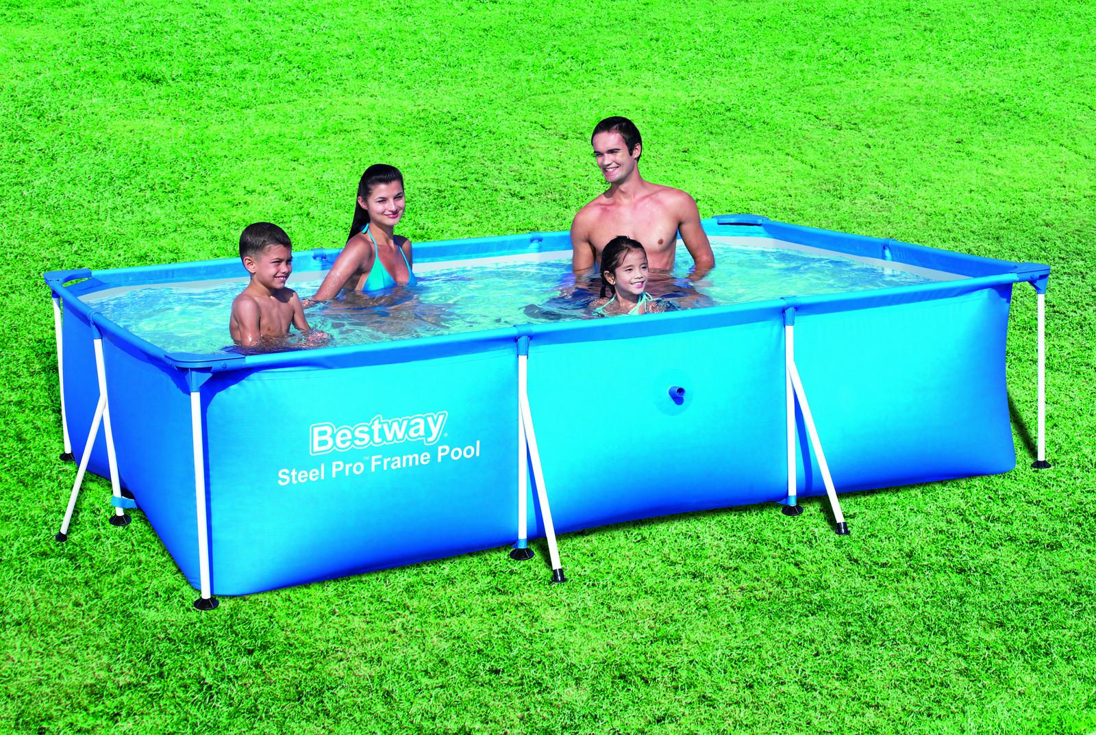 ᐈ bestway power pro frame pool 3.00m x 2.01m x 66cm - blue kaufen