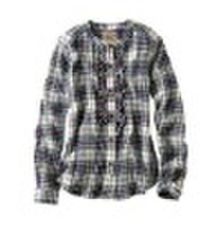 Cotton Lady Plaid Shirt