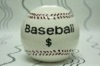 The baseball ceranics money box stock