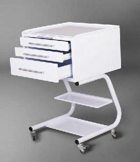Столик врача СВ-3 передвижной с 3 выдвижными ящиками
