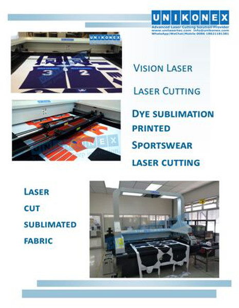 Vision laser cutting in sublimated sportswear