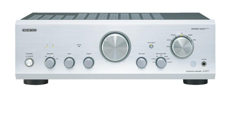 ONKYO A-9377 2.0 Дома Проводная Cеребряный усилитель звуковой частоты