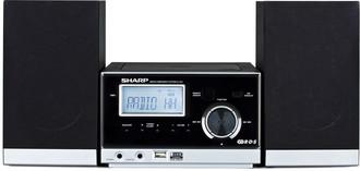 Sharp XL-E1H Micro set 10Вт Черный, Cеребряный домашний музыкальный центр