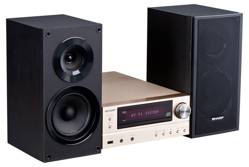 Sharp XL-E171DVH Micro set 60Вт Черный, Золотой домашний музыкальный центр