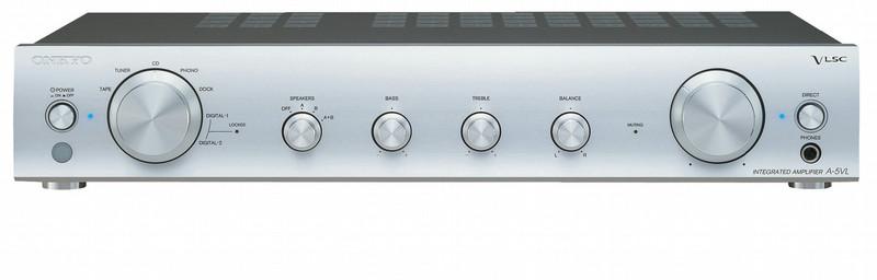 ONKYO A-5VL 1.0 Дома Проводная Cеребряный усилитель звуковой частоты
