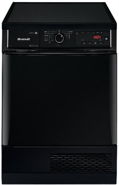 Brandt BWD181TB Отдельностоящий Фронтальная загрузка 8кг B Черный сушилка для белья