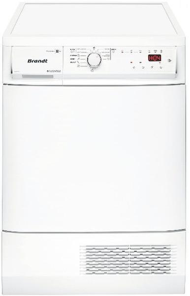 Brandt BWD181T Отдельностоящий Фронтальная загрузка 8кг B Белый сушилка для белья