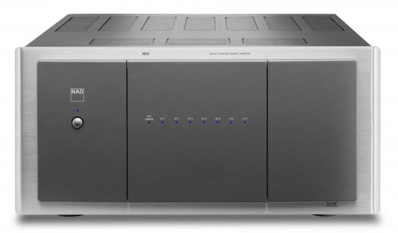 NAD M25 7.1 Дома Проводная Серый, Cеребряный усилитель звуковой частоты