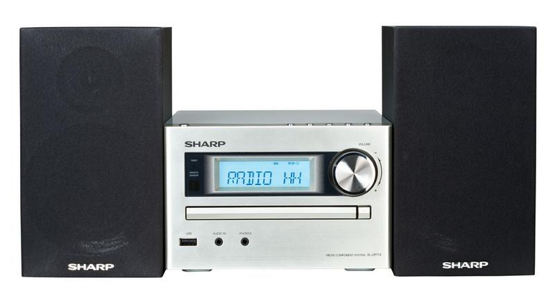 Sharp XL-UR14H Micro set 30Вт Черный, Cеребряный домашний музыкальный центр