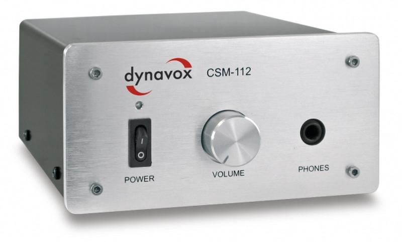 Dynavox CSM-112 2.0 Дома Проводная Cеребряный усилитель звуковой частоты