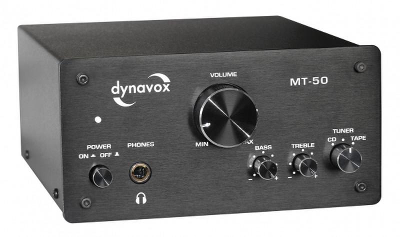 Dynavox MT-50 2.0 Дома Проводная Черный усилитель звуковой частоты