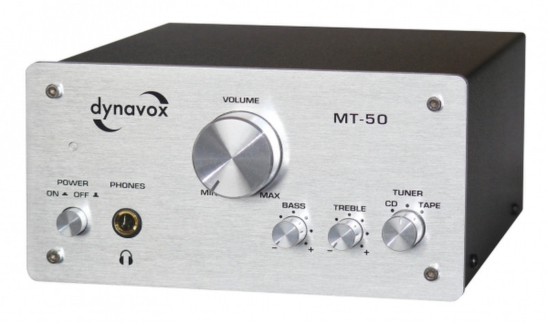 Dynavox MT-50 2.0 Дома Проводная Cеребряный усилитель звуковой частоты