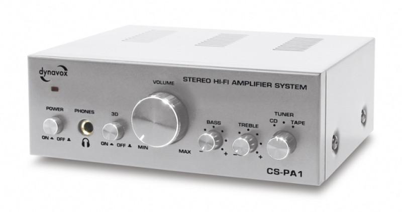 Dynavox CS-PA1 2.0 Дома Проводная Черный, Cеребряный усилитель звуковой частоты