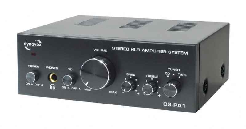 Dynavox CS-PA1 2.0 Дома Проводная Черный усилитель звуковой частоты