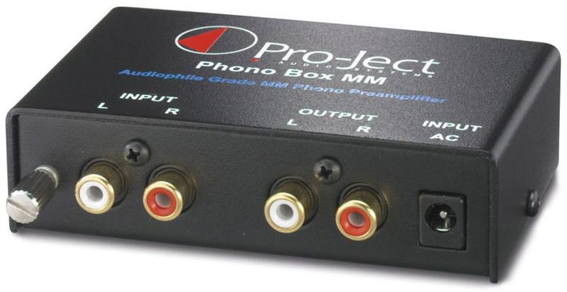 Pro-Ject Phono Box MM 2.0 Дома Проводная Черный усилитель звуковой частоты