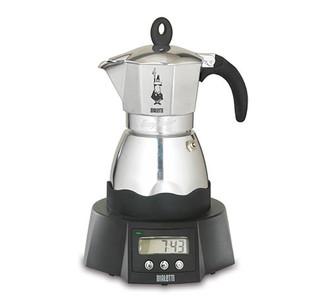 Bialetti Easy Timer Отдельностоящий Semi-auto Electric moka pot 6чашек Алюминиевый, Черный