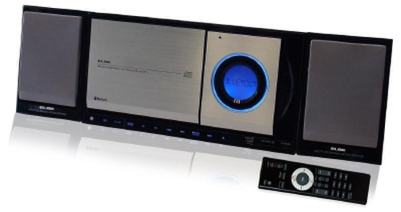 ELBE HIFI-1007-BT 10Вт Черный, Cеребряный домашний музыкальный центр