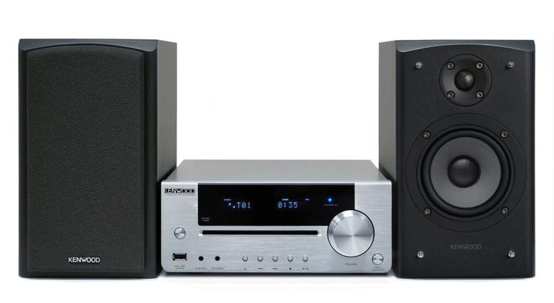 Kenwood Electronics K-731-S Mini set 100Вт Cеребряный домашний музыкальный центр