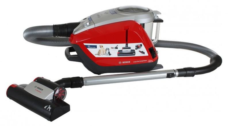 Bosch BGS5Z0001 Цилиндрический пылесос 3л 1800Вт Черный, Серый, Красный