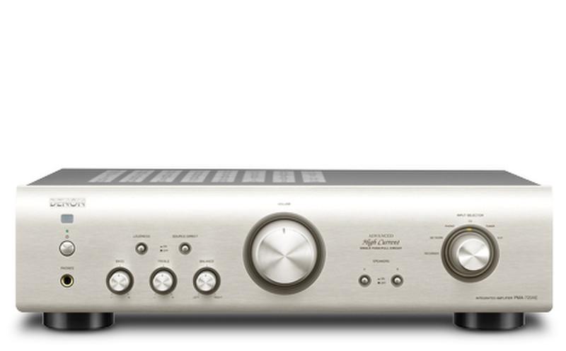 Denon PMA-720AE 2.0 Дома Проводная Cеребряный усилитель звуковой частоты