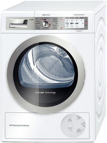 Bosch WTY887W1 Отдельностоящий Фронтальная загрузка 8кг A+++ Серый, Белый сушилка для белья