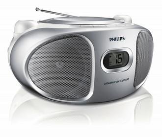 Philips AZ105S/05 Micro set 2Вт Cеребряный домашний музыкальный центр
