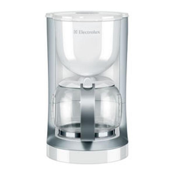 Electrolux EKF3130 Отдельностоящий Капельная кофеварка 15чашек Cеребряный, Белый