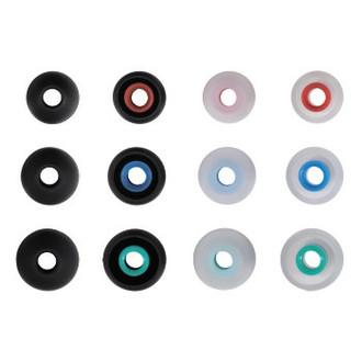 Hama 122681 Силиконовый Черный, Прозрачный 12шт подушечки для наушников