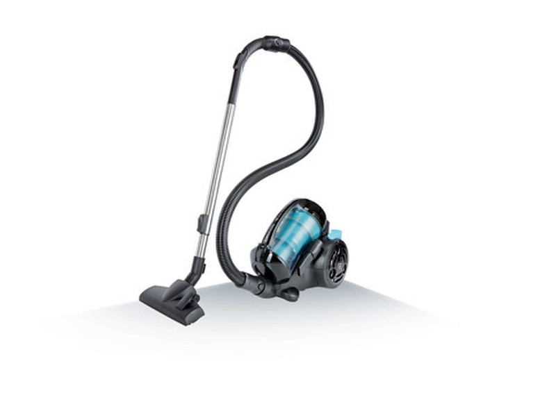 Grundig VCC 6270 Цилиндрический пылесос 1.8л 2000Вт Черный, Синий