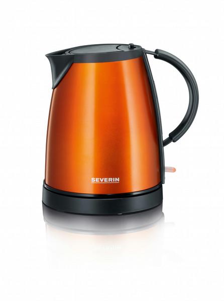Severin WK 9736 1л 1350Вт Черный, Металлический, Оранжевый электрический чайник